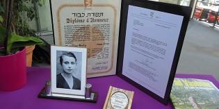 Remise de la Médaille des Justes parmi les Nations à Madeleine Bady