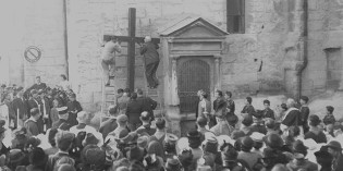 Découverte de trois photos de la cérémonie de restauration du Chemin de Croix, le 6 octobre 1940