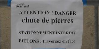 Attention, chute de pierres rue Saint-Just !