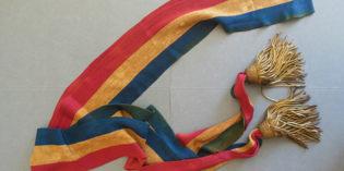 Objets d'archives – L'écharpe du maire Jean Pierre Jules Rivoire
