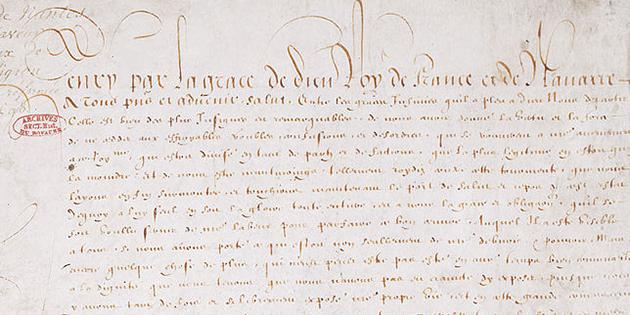 25 octobre 1599 - L'Edit de Nantes est publié à Romans