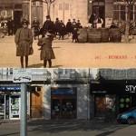 Hier et aujourd'hui : commerces, place d'Armes, en 1908