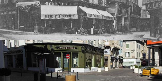 Hier et aujourd'hui : la place Lally-Tollendal et le café Bonnet