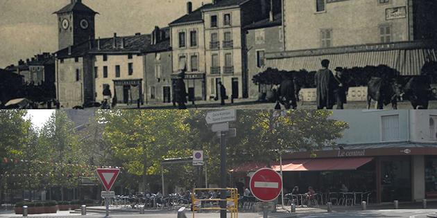 Hier et aujourd'hui : la place Ernest Gailly