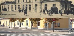 Hier et aujourd'hui : la gare