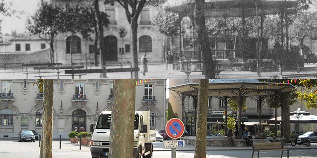 Hier et aujourd'hui : le kiosque et la Banque de France