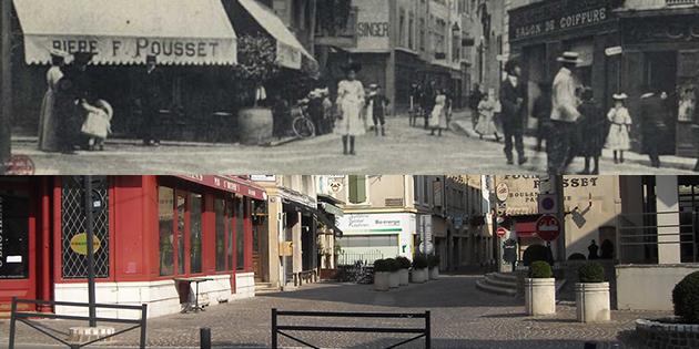 Hier et aujourd'hui : la place Laly-Tollendal et la rue Saint-Nicolas