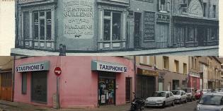 Hier et aujourd'hui : l'angle de la rue Palestro et de la rue Félix Faure