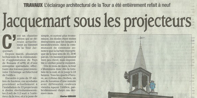 L'éclairage architectural de la tour Jacquemart entièrement refait à neuf