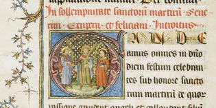 Un missel de Saint-Barnard du XIVe siècle à vendre!