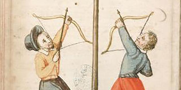 """Le Jeu de l'arquebuse, aussi appelé """"Tir du papegay"""""""