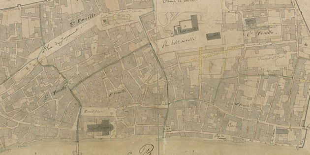 9 juillet 1820 - Le premier plan cadastral de la ville