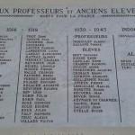 La plaque commémorative du lycée Triboulet