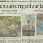 """Le Dauphiné Libéré, 21 août 2011 : """"Posez un autre regard sur la ville !"""""""