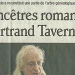 """Le Dauphiné Libéré, 3 juin 2012 : """"Les ancêtres romanais de Bertrand Tavernier"""""""