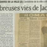 """Le Dauphiné Libéré, 21 août 2012 : """"Les nombreuses vies de Jacquemart"""""""