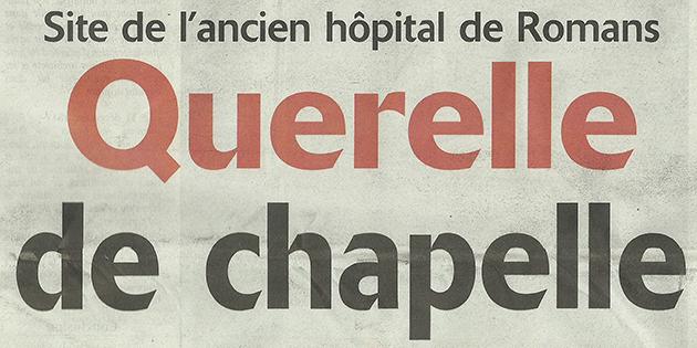 """L'Impartial, 7 février 2013 : """"Querelle de chapelle"""""""