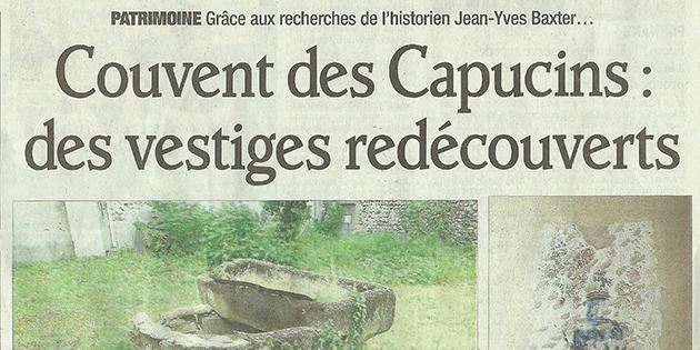 """Le Dauphiné Libéré, 21 mai 2013 : """"Couvent des Capucins : des vestiges redécouverts"""""""