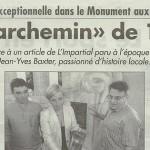 """L'Impartial, 24 juillet 2014 : Un """"parchemin"""" de 1934"""