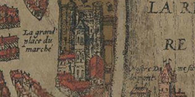 9 mai 1049 - Le cloître de Saint-Barnard est la proie des flammes