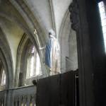 La statue polychrome de Saint-Barnard