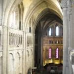 La nef et le choeur vus du triforium