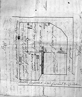 Plan daté du 7 août 1748