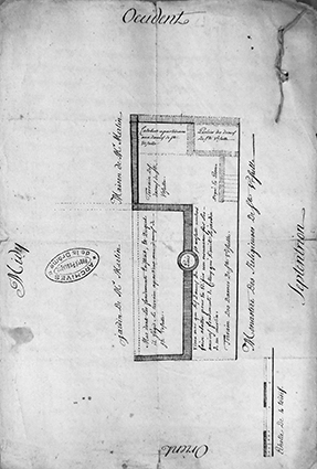 Plan daté du 12 juin 1748