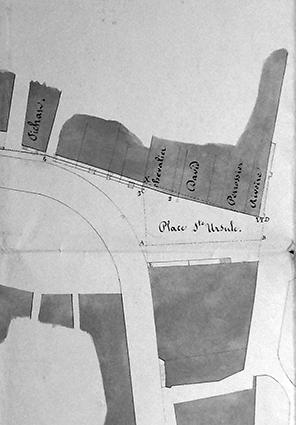 Plan pour la rectification de la place Sainte-Ursule en 1854
