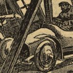 29 janvier 1912 : Une auto dans un bureau d'octroi