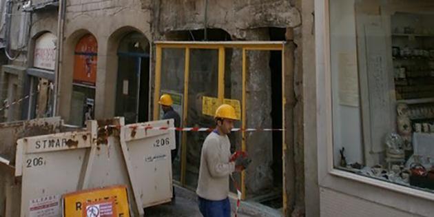 Les travaux ont commencé dans les immeubles 37-39 côte Jacquemart