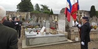 Inauguration de la tombe rénovée d'Albert Triboulet