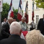 Dépose d'une plaque en mémoire de la Résistance
