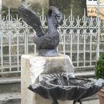Restauration de la fontaine au cygne de la tour Jacquemart