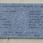Les romanais Morts pour la France durant la Guerre franco-allemande de 1870