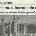 """L'Impartial, 28 avril 2011 : """"Les tombes musulmanes du cimetière"""""""