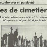 """L'Impartial, 27 octobre 2011 : """"Histoires de cimetière"""""""