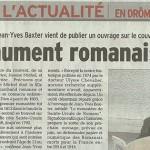 """Le Dauphiné Libéré, 4 mai 2014 : """"Un monument romanais oublié"""""""