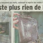 """Le Dauphiné Libéré, 25 juillet 2014 : """"Il ne reste plus rien de la liste"""""""